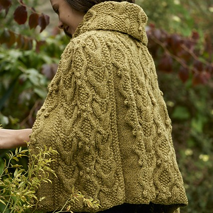Adwen Cable Cape free knitting pattern