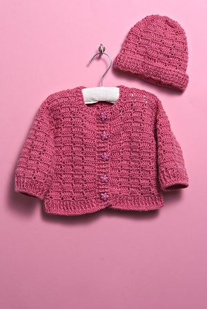 Free Crochet Pattern For A Baby Sweater And Hat Knitting Bee