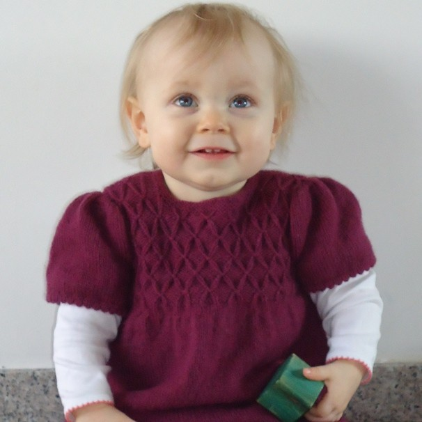 91206fbf9 Blacker Swan Girl s Smocked Tunic and Leggings free knitting pattern ...