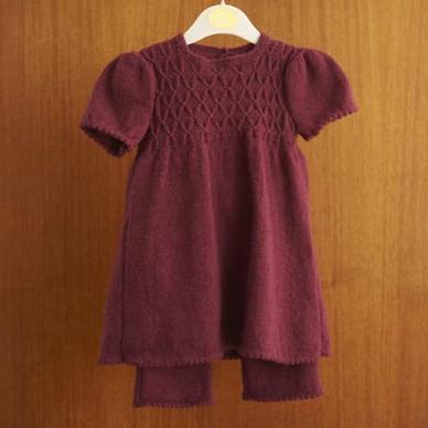 Blacker Swan Girl's Smocked Tunic and Leggings free knitting pattern