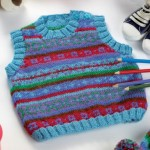 Fair Isle Tank Top and Hat - Free Knitting Pattern for Baby and Toddlers