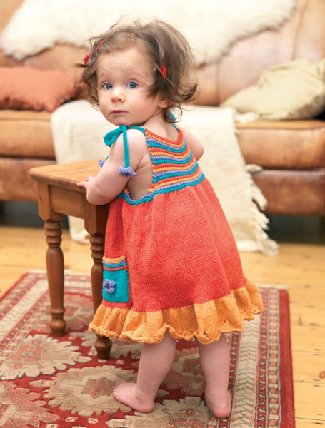 Free Sundress and Hat Set Knitting Pattern for Little Ones 2