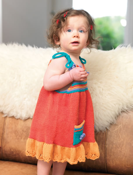 Free Sundress and Hat Set Knitting Pattern for Little Ones