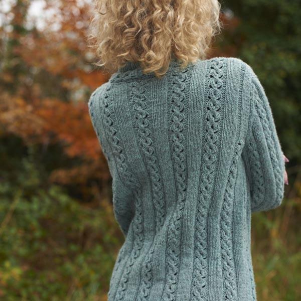 Margot Long Cable Jacket knitting pattern free