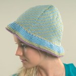 Nina Fair Isle Diagonally Striped Cloche