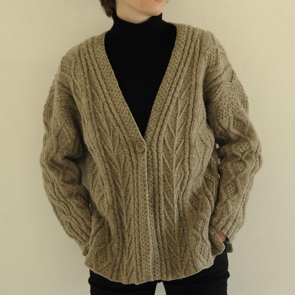 Rita's Aran Jacket free knitting pattern 1