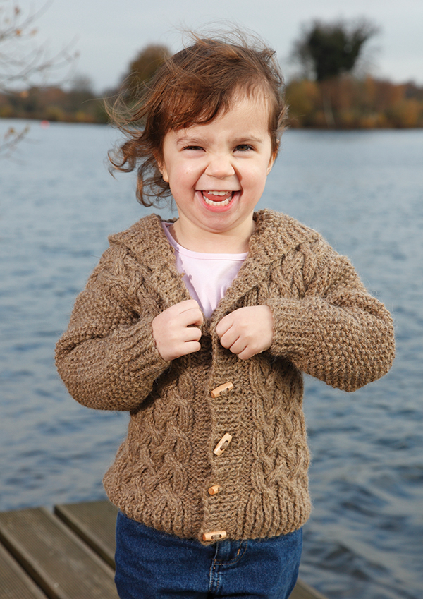 Zest Child's Cabled Cardigan Free Knitting Pattern 1