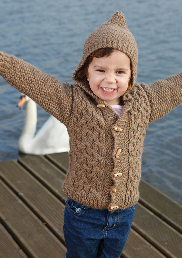 Zest Child's Cabled Cardigan Free Knitting Pattern