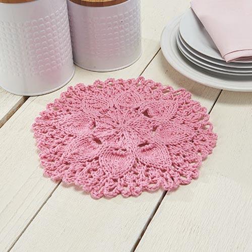 Zinnia Dishcloth free knitting pattern
