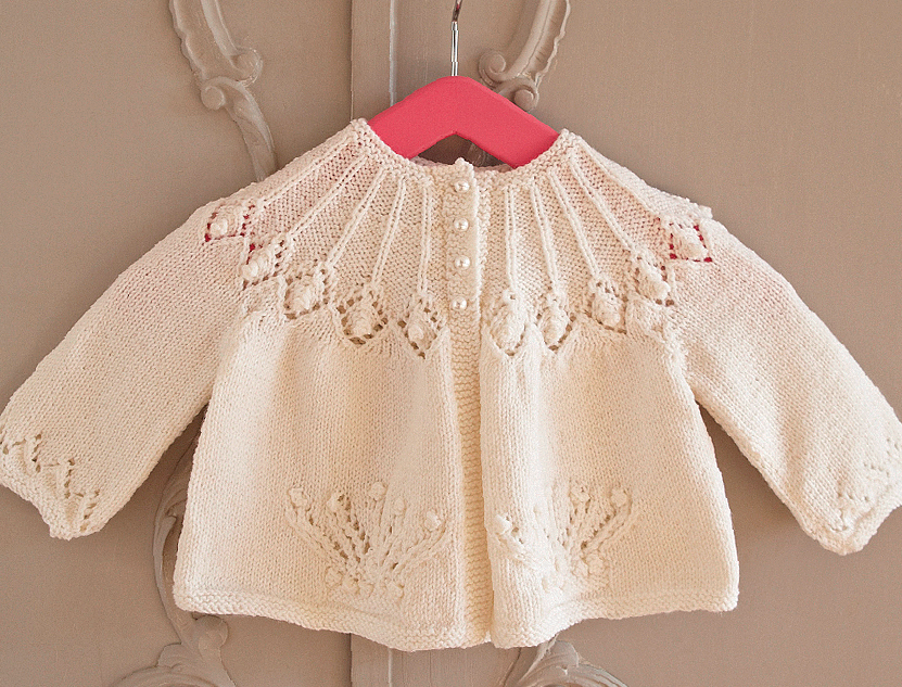 Picot Edge Baby Jacket Free Knitting Pattern Knitting Bee