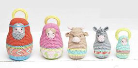 Amigurumi Nativity Russian Dolls Crochet Pattern