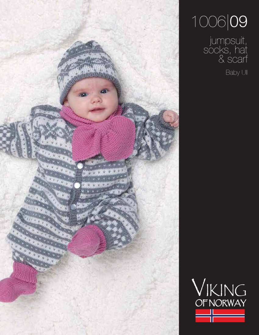 Baby Jumpsuit, Socks, Hat & Scarf free knitting pattern