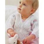 Pretty Lace Baby Cardigan Knitting Pattern