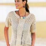 Cable Motif Summer Top Free Knitting Pattern