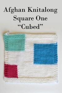 Afghan Knitalong Square 1 - Cubed
