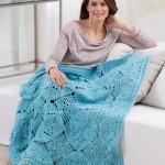 April Showers Throw - Free Crochet Blanket Pattern