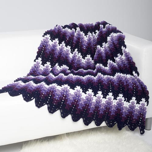 Free crochet ripple stitch blanket Patterns ⋆ Knitting Bee (13 free ...