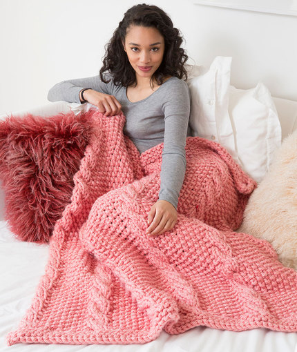Big Cables Throw - Knitting Pattern 1