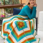 Bright & Breezy Throw - Free Crochet Blanket Pattern