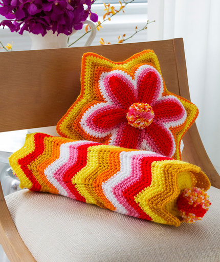 Brighter Days Pillows - Crochet