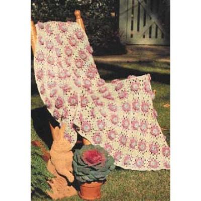 Cabbage Rose Crochet Square Blanket Pattern