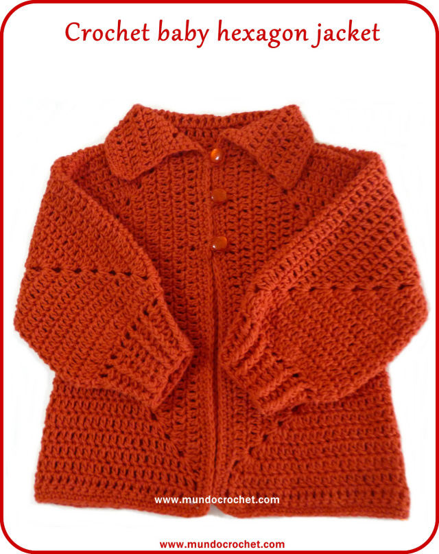 Crochet Stitches With No Holes : Crochet baby hexagon jacket with no holes: Free pattern and Tutorial ...