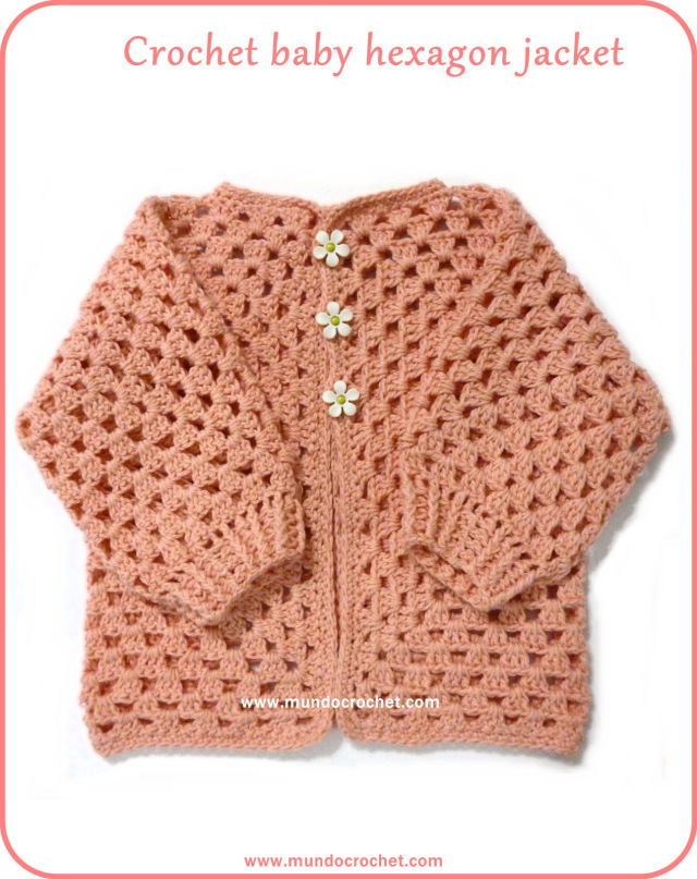 Crochet baby hexagon jacket: Free pattern and Tutorial