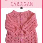 Baby crochet cardigan: Free pattern