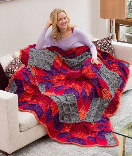 Desert Star Throw - Free Crochet Blanket Pattern