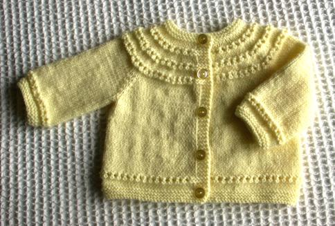 Sweet Eyelet Baby Sweater Knitting Pattern - Long Sweater Jacket