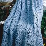 Fan Knit Afghan