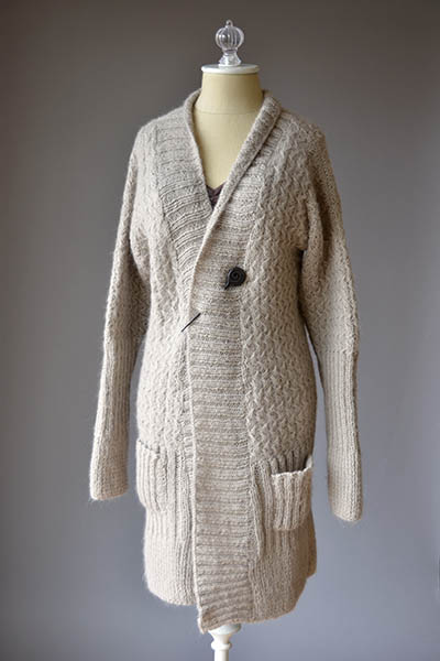 Free Knitting Pattern Zippered Cardigan : Knit Cardigan Patterns - Long Sweater Jacket