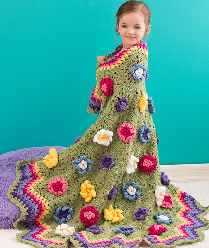 Crochet Flower Blanket Pattern Image Collections Knitting Patterns