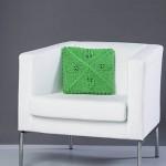 Four Leaves Pillow - Free Knitting Pattern