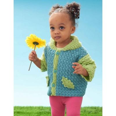 Gathering Leaves Cardigan - Free Baby Crochet Cardigan
