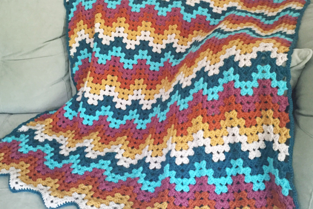 Crochet Stitches Granny Ripple : Granny Ripple Blanket - Crochet Pattern ? Knitting Bee
