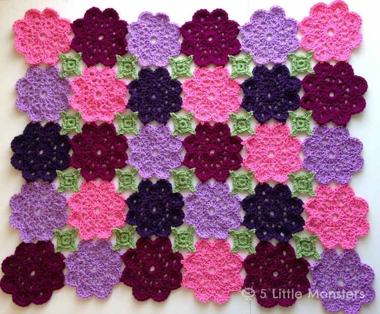Kennedy's Flower Garden Blanket