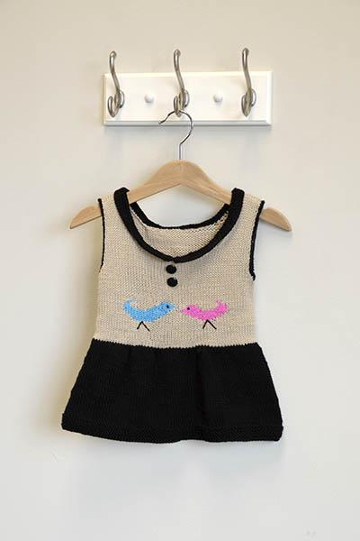 Little Peep Dress - Free Knitting Pattern