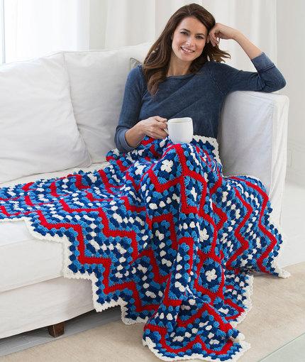 Patriotic Pride Throw - Crochet Blanket Pattern