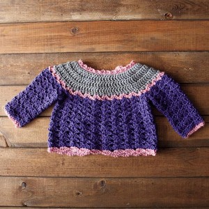 Patty Cake Crochet Cardi back