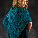 Peacock Shawl - Pineapple Motif Free Crochet Shawl Pattern