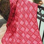 Pink paradise throw - free crochet throw pattern