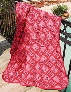 Pink paradise throw free crochet blanket