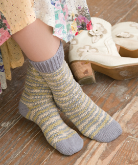 River Moss - Free Crochet Sock Pattern