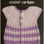 Round yoke baby crochet cardigan: free pattern and tutorial