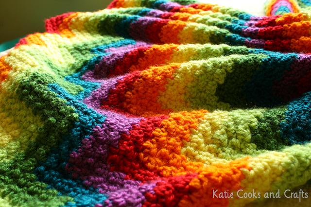 rumpled ripple rainbow baby afghan  u22c6 knitting bee