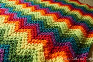 Rumpled Ripple Rainbow Baby Afghan 2