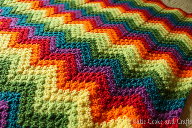 Rumpled Ripple Rainbow Baby Afghan