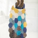Shoreline Afghan - Hexagonal Motif Blanket Pattern