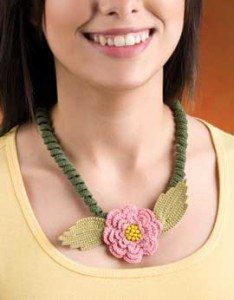 Spiral Blossom - Free Crochet Necklace Pattern